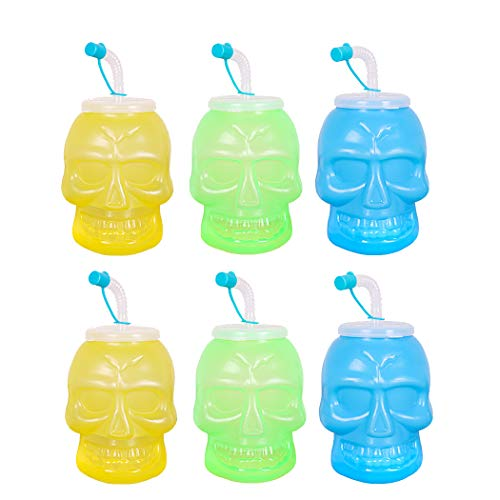 FunPa 6PCS Sip Straw Cup Novelty Straw Sippy Cup Baby Straw Bottle for Halloween]()
