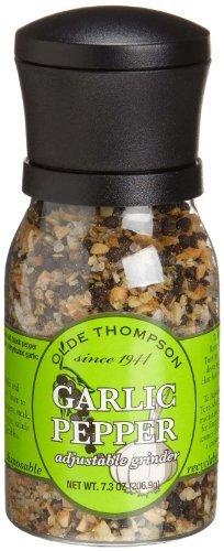 Olde Thompson Adjustable Grinder, Garlic Pepper, 7.3 oz