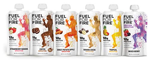 Fuel For Fire  Variety Pack with All Flavors 24 Pack Including New Mixed Berry Fruit amp Protein Smoothie Squeeze Pouch | GlutenFree SoyFree Kosher No Added Sugar45 ounce pouches