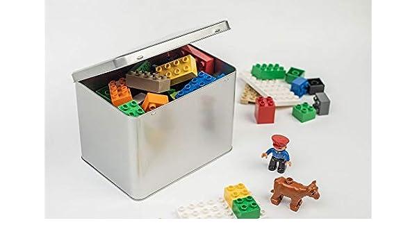 Perfekto24 - Caja de Lata DIN A5 Maxi XXL con Tapa, Lata de Metal ...