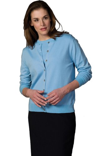 Edwards Women's Corporate Performance Twinset Jewel Neck, SKY BLUE, Large
