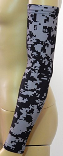 Sports Farm New Black & Gray Digital Camo Arm Sleeve
