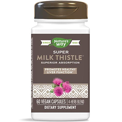 Nature's Way Super Milk Thistle Improved Absorption Liver Health/Detoxification, 60 Capsules (Packaging May Vary) (Enzymatic Therapy Milk Thistle)