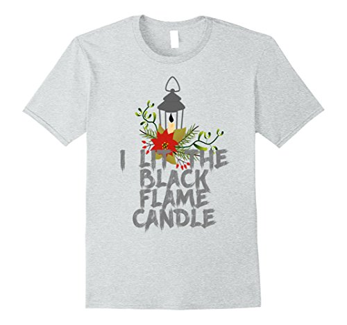Homemade Halloween Costumes Photos (Mens I Lit the Black Flame Candle Funny Halloween T-Shirt XL Heather Grey)