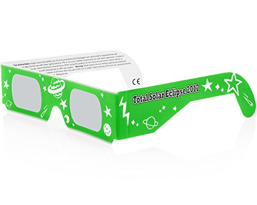 Solar Eclipse Glasses CE and ISO Certified - Safe Solar Viewing - Viewer and Filter - Made in USA - NEON (3 Pack) by Solar Eclipse Spectacles (Image #2)