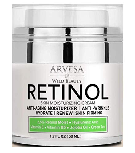 Natural Retinol Moisturizer Cream for Face and Eye Area - Made in USA - with Hyaluronic Acid - Active Retinol 2.5% - Anti Aging Face Cream to Reduce Wrinkles & Fine Lines - Best Day and Night (Best Anti Aging Eye Serum 2019)