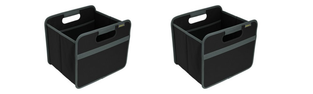 4 Gallon in Lava Black To Organize and Carry Up To 65lbs 15 Liter meori A100025 Classic Collection Small Foldable Storage Box