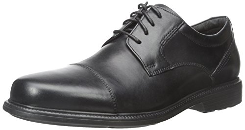 Rockport Men's Charles Road Cap Toe Oxford Black Leather 10.5 M (D)-10.5  M