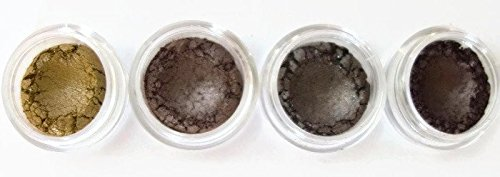 Apply Mineral Eye Shadow (Grace My Face Minerals Glamour Quad Eye Shadow, All That Brown Shimmer)