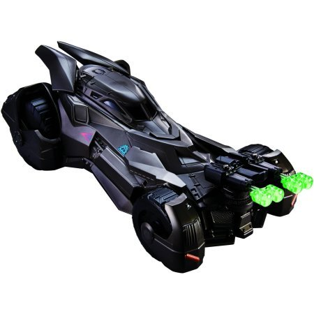 Batman Vs Superman: Deluxe Batmobile By Mattel Hood Artillery Fires Projectiles