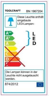 7 W Lampe loupe TOOLCRAFT TO-5901612 LED int/égr/ée Puissance
