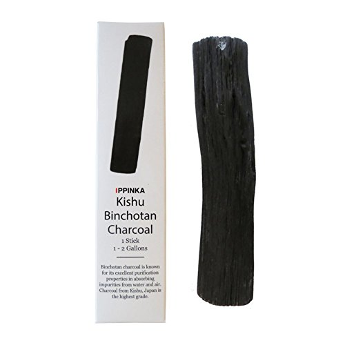Large Kishu Binchotan Charcoal Water Purifying Stick, Filters 1-2 Gallons of Water