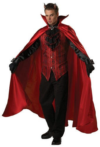 Lucifer Costume Men (Handsome Devil Costume - Large - Chest Size 42-44)