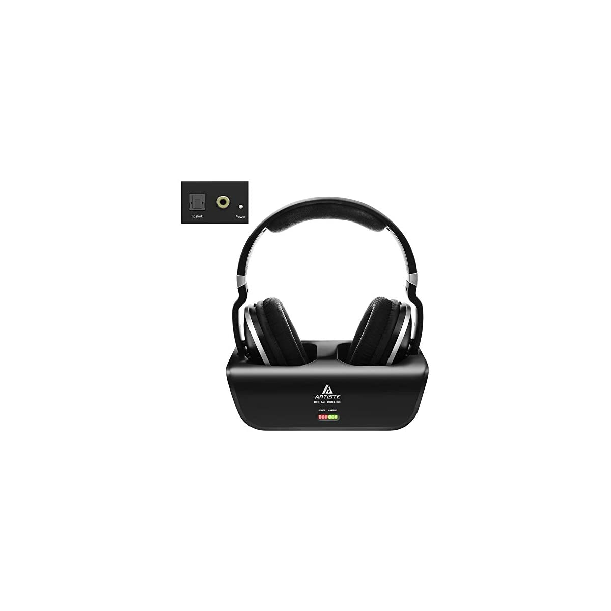 Wireless Headphones For Tv Watching With Optical Artiste Adh300 2 4ghz Digital Wireless Tv Headphones 100ft Distance Rechargeable For Tv Pc Phone Black With Optical Johns1stopshop