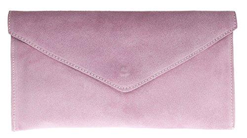 Rebecca Verapelle Italian NEW Ladies Genuine Bag Clutch Womens Suede Clutch Womens Pink Shaped Envelope Light 5RRFxqPwt
