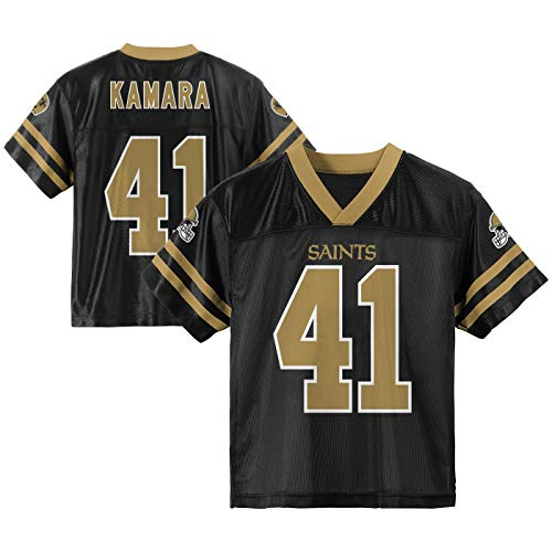 d2d5a39fa47 Outerstuff Alvin Kamara New Orleans Saints  41 Black Youth Home Player  Jersey (Small 8