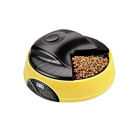 Comedero/Tolva automatica para Perros y Gatos, Color Amarillo: Amazon.es: Electrónica