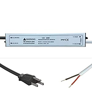 100W 12 Volt DC Waterpoof IP67 LED Power Suppply Driver Transformer with 3-Prong Plug
