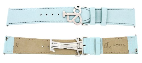 jacob-co-genuine-real-satin-light-blue-band-strap-22mm-for-47mm-watch