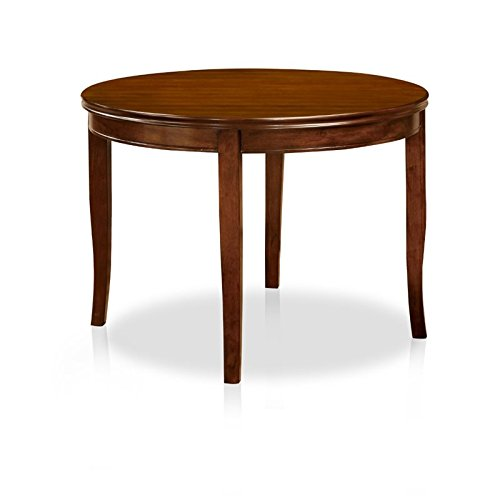 Cheap Furniture of America Dekina Transitional Round Dining Table, Medium Oak