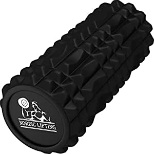 Foam Roller for Best Muscle Massage & Deep Tissue Trigger - Roll & Stretch Tool - 1 Year Warranty (Black)