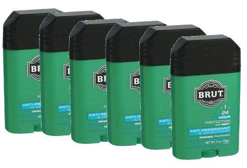 Brut Mens 24 hr Anti-Perspirant/Deodorant Solid 2 oz Original Scent-6 (Brut Deodorant Cologne)