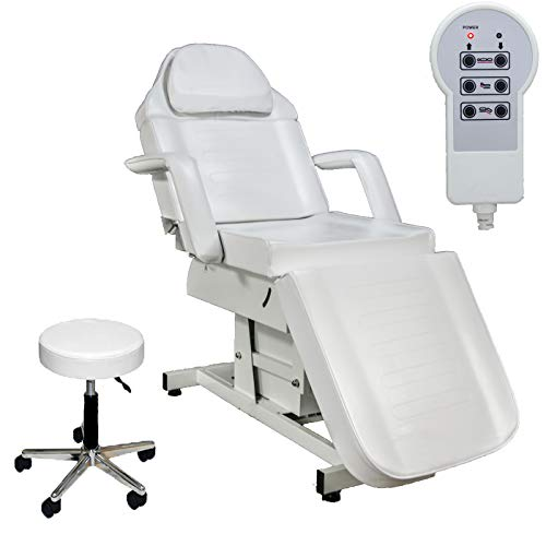 XYZ Beauty White Electric Fully Adjustable Salon Massage Bed
