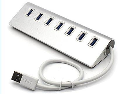 Cargador USB 3.0 hub de 7 puertos Aluminio Portable Con ...