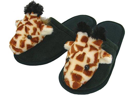 Plüsch Hausschuhe Pantoffeln Giraffe Gr. 38/40
