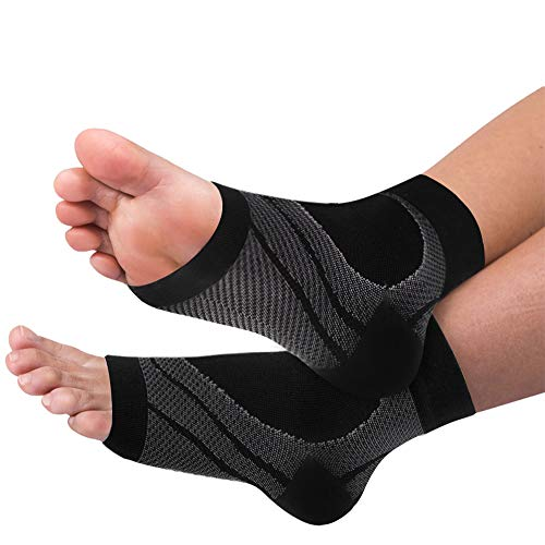 Ankle Brace Compression Sleeves Plantar Fasciitis Socks with Arch Support for Men  Women Compression