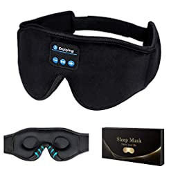 Travel Junkie 419poi1WbDL._SS247_ Sleep Headphones,3D Sleep Mask Bluetooth 5.0 Wireless Music Eye Mask, LC-dolida Sleeping Headphones for Side Sleepers…
