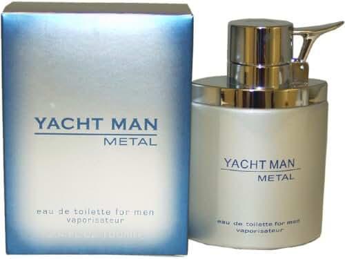 Yacht Man Metal by Puig Eau-de-toilette Spray for Men, 3.40-Ounce
