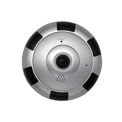 Price comparison product image Owill 960P HD Mini 360 Degree Panoramic Wifi Wireless IP Camera Fisheye Night Vision Camera, Infrared 10Meters Visible at Night (Silver)