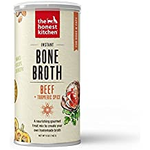 Honest Kitchen The Beef Bone Broth - Natural Human Grade Functional Liquid Treat with Turmeric Spice for Dogs & Cats, 5 oz