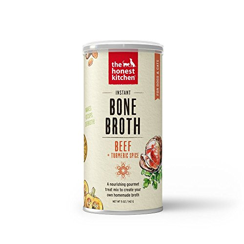 Pet Supplies : Honest Kitchen The Beef Bone Broth - Natural Human Grade Functional Liquid Treat with Turmeric Spice for Dogs & Cats, 5 oz