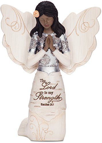 Elements 82324 Prayer Collectible Figurine, Ebony Kneeling and Praying Angel, (African American Gift)