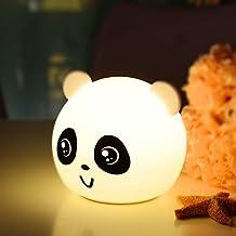 Night Light for Baby Kids Lovely Panda Shape Multi colors changing by Touch Sensor for Children Bedroom