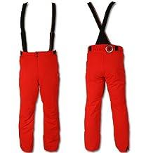 Sportalm hero pantalon de ski pour homme avec bretelles rouge S