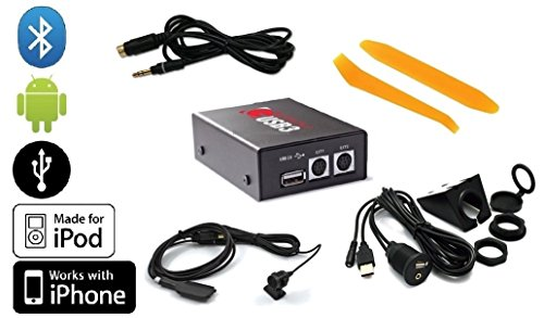 Grom HON1U3 USB Android iPod iPhone interface PLUS Bluetooth Phone/Music BTD kit PLUS Grom 35MDN aux audio cable PLUS dash-mount USB/Aux extension cable PLUS dash trim removal tools. For Honda/Acura radios. (Bundle: 5 items)