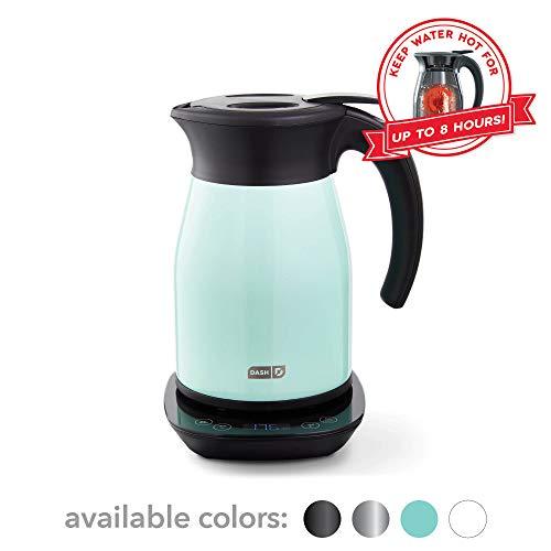 DASH Insulated Electric Kettle, Cordless 1.7L Easy Boil Hot Water Kettle - Matte Aqua, 57oz/1.7L
