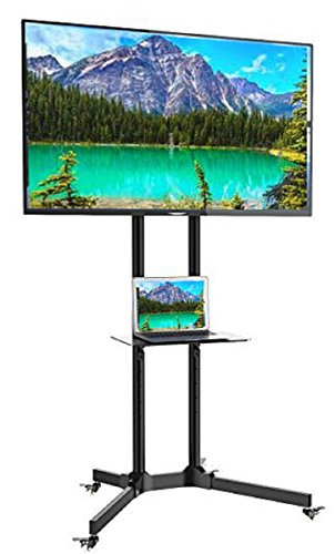 "EZM Mobile TV Cart Rolling Stand for LCD LED Plasma Flat Panel with Shelf Fits 32""-65"" (002-0032)"