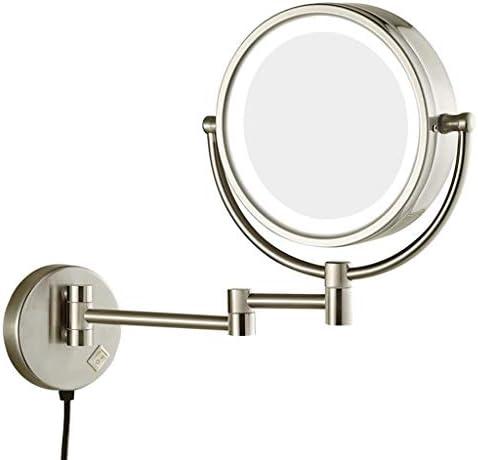 浴室の壁には10倍の倍率LED照光両面360°のスイベル拡張可能に取り付けられました W1XX (Color : D)
