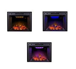 Flameline in-Wall Recessed Electric Fireplace Heater w/Touch Screen Panel by Flameline