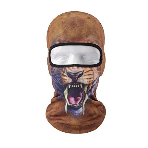 Vertast Cagoule Masque visage, 2017Nouveau Design 3d Animal Active Masque complet pour le ski de cyclisme casque de moto Liner randonnée Camping Cache-cou