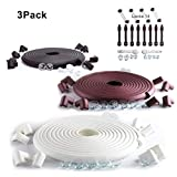 SafeBaby & Child Safety Edge Corners Guards Set. 23.2ft/16 Baby proofing Furniture Foam/Clear Bumpers +14 Locks. Fridge/Toilet Lead, Cabinet Door, Drawers, Cupboard, Appliance. Black Brown White