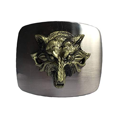 Western Cowboy Wolf Belt Buckle for Men Square Belt Buckle