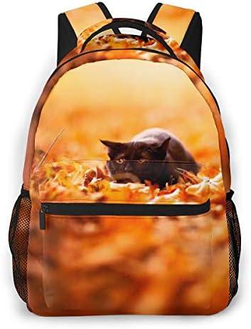 黒猫の動物 バックパック リュック メンズ レディース 学生 男女兼用 防水 アウトドア カジュアル デイパック 多機能 収納 通勤 通学