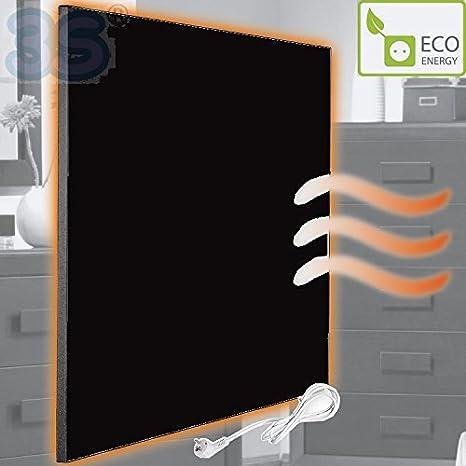 ec0c727dd6a05 Piastra pannello riscaldante calorifero elettrico a raggi infrarossi in  ceramica colore NERO - potenza 395 Watt