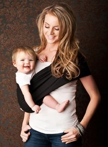 e84a1a5d7f8 Amazon.com   Seven Everyday Slings Baby Carrier Sling Color Black Size  3 Small   Baby