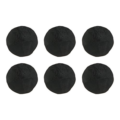 (Set of 6) 3/4 x 1 inch Round Pyramid Decorative Iron Nails/Clavos, Natural Black Iron Finish by A29 (Image #3)